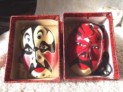 Types of Facial Make-up in Chinese Opera 2 miniature masks