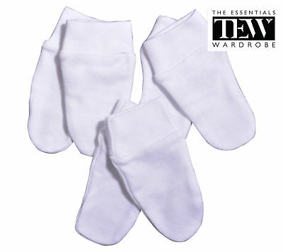 Baby Mittens Girls Boys 3 Pairs Anti Scratch Mitts Newborn Toddler 100% Cotton
