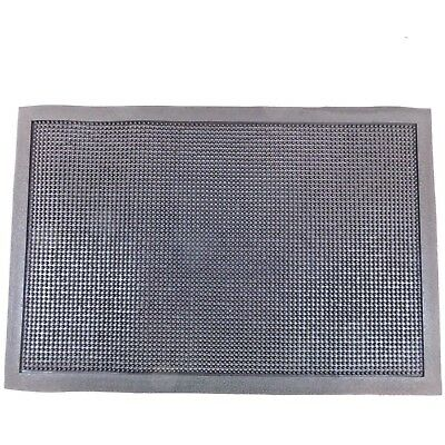 "NoTrax 347 Rubber Entrance Mat 16"" x 24"" x 1/2"" Thick Black Rectangle"