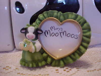 ❤AUGUST PHOTO FRAME  ❤Mary's Moo Moos❤  HTF COW PICTURE FRAME