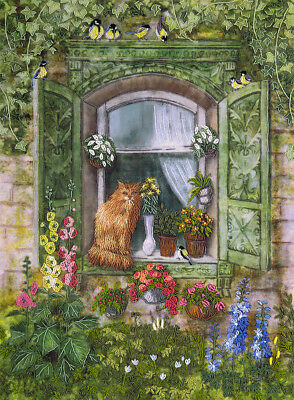 """New Crewel Embroidery Kit """"Cat on the Window"""""""