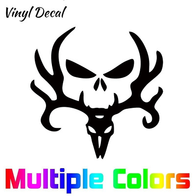 Hunting Punisher Deer Skull Decal  | Vinyl Sticker *Many Sizes*