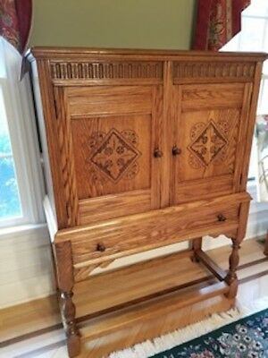 Oak Dining Room Set Jacobean Style - Excellent Condition. Approx. 120 years old