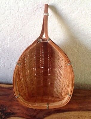 Vintage Chinese Wicker Rice Basket~SIEVE~Strainer