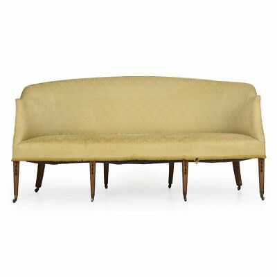 English Hepplewhite Period Satinwood Antique Canapé Sofa Settee, circa 1810