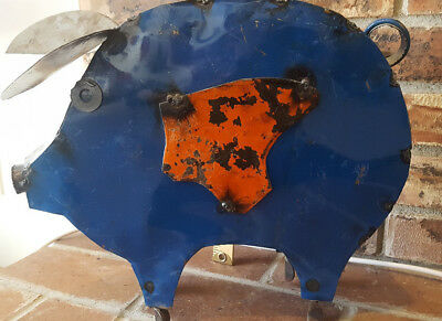 Peachy Recycled Metal Pig Hog Swine Yard Garden Sculpture 35 00 Pabps2019 Chair Design Images Pabps2019Com
