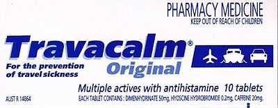 =>Price Smash One Box 10 Tablets Of Travacalm Original For Sea&travel Sickness
