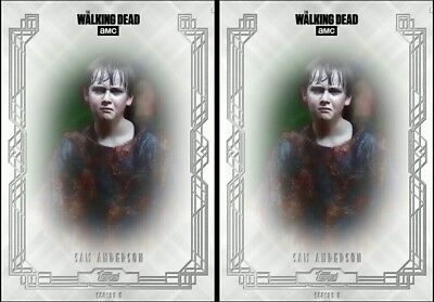 2x FALLEN WAVE 3 SAM ANDERSON The Walking Dead Trader Digital Card