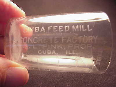 Cuba Feed Mill & Concrete Factory - Cuba Illinois - Whiskey (?) Shot Glass