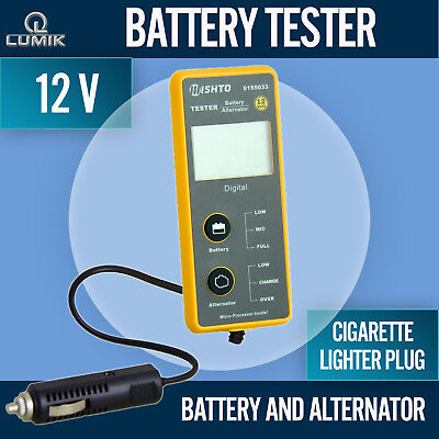 12V Car Battery Alternator System Tester Cranking Plug In Cigarette Lighter Plug
