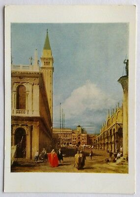 Antonio Canale Canal called Canaletto The Piazzetta Venice Postcard (P268-191)