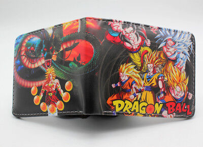 Dragon Ball Z Goku Super Saiyan Unisex Wallet Leather pu Short Purse