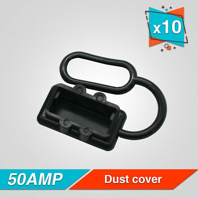 10x DUST CAP COVER for ANDERSON STYLE PLUG/CONNECTOR BLACK 50amp DC 12-24V AUTO