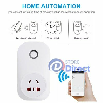 WiFi Wireless Smart Switch Socket Outlet Home Timer Control Power ON/OFF AU Plug