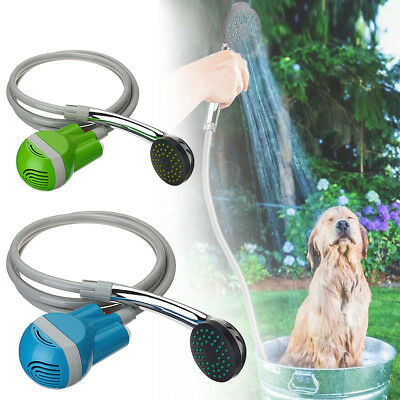Portable USB Rechargeable Shower Head Outdoor Camping Hiking Bathing Water Pump