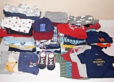 Carter's Baby Boy Clothes Lot 9 months 54 pieces Current Styles EUC Lots of Sets