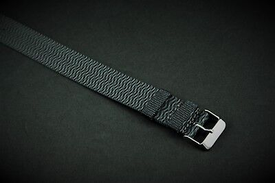 20mm Gray Wavy Slip Thru Nylon Watch strap band fits Timex Weekender