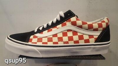 05cd746185c VANS OLD SKOOL Vault Vintage White Red Rococco Marshmallow Size 12 ...