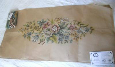 Large Vintage Tramme Tapestry Kit Mixed Flowers Includes All Yarns
