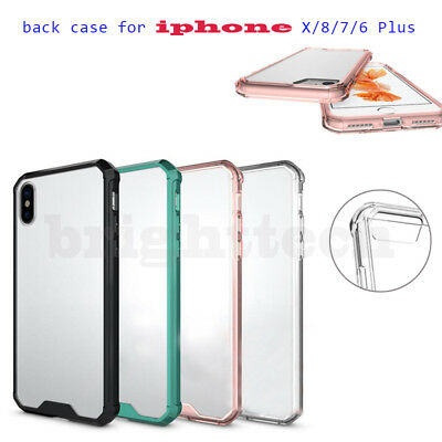 2018 Shockproof Armor Phone Back Transparent Case Cover Fr iPhone X 8 7 6 + Plus