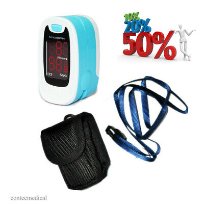 Finger Pulse Oximeter Portable Heart Rate Monitor SpO2 Blood Oxygen Meter Sensor
