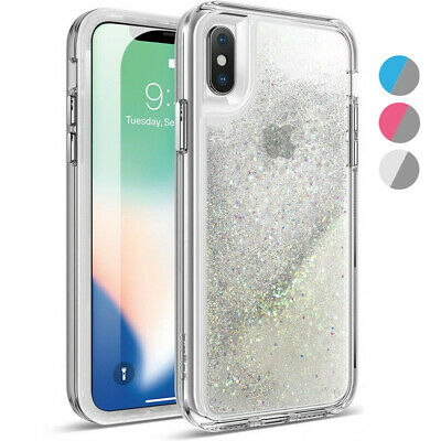 Poetic For iPhone X Rugged Case Cascade Series Liquid Glitter TPU Cover 3 Color