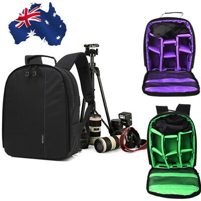 AU Photography Digital DSLR Camera Bag Backpack Waterproof Photo Camara Bags Red