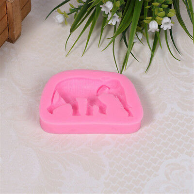 Vivid Animals Elephants Silicone Molds Soap Clay Molds Making Tools CMGE