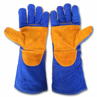 Welder Gloves Cushion Core Cowhide TIG MIG Welding High Temperature Protect Hand