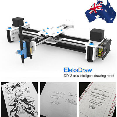 AU EleksMaker Mini XY 2 Axis CNC Pen Plotter EleksDraw Laser Drawing Machine DIY