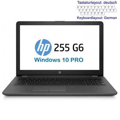 HP 15,6 Zoll NOTEBOOK - AMD 2@ 2GHz Turbo - 4GB DDR4 500GB HDD DVD±RW Windows 10