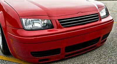 VW Bora Jetta MK4 Bonnet Hood Extension Headlight Eyelid Eye Brow Grill Spoiler