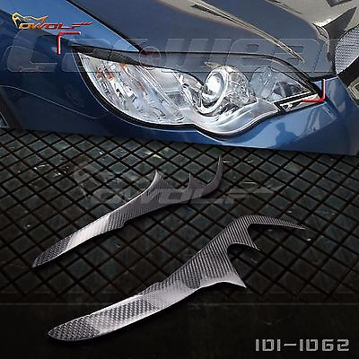 Carbon Fiber Eyebrows Eyelids Trim for Subaru Legacy Liberty Outback 2006-2008