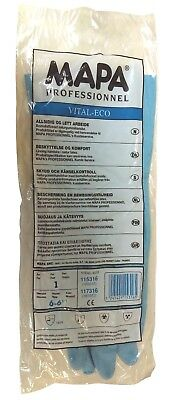 MAPA Vital-Eco 117 Protective Latex Gloves Chemical Resistant Small Size 6 1Pair