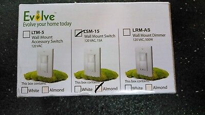 EVOLVE LSM-15 Wall Mount Accessory Switch 120 VAC