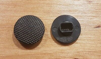 2 x Black Analog Joystick Controller Button Cap For Sony PSP Replacement