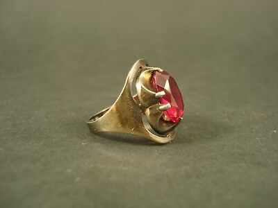 Vintage Soviet Ring Gilded Silver 875  Star stamp.. Size 16.5 mm. 4.7 g.