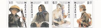 Macao: SC#868a (865-8) VFNH :Boat People Painting, Art, Portrait