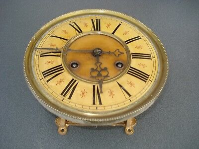 Old Vienna Wall Clock Movement & Dial For Parts Spares Restoration