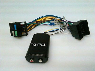 Seat Leon 2013> Quadlock Remote High Low Adapter Chinch Originalradio Verstärker