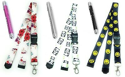 Nurse First Aid Torch Lamp Emergency + Lanyard Neck Strap for ID Card Holder