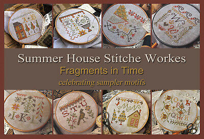 Fragments in Time Sampler Motifs Series Summer House Stitche Workes Pattern