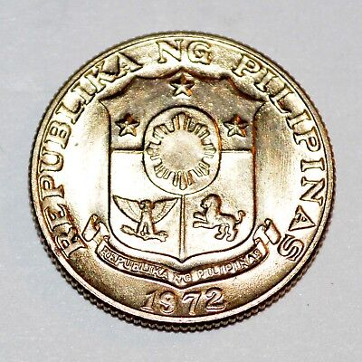 1972 PHILIPPINES 10 ten centimos world foreign BU UNCIRCULATED COIN