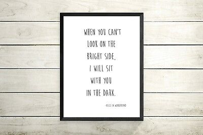 Alice in Wonderland Inspirational Quote A4 Print -gallery wall quote print