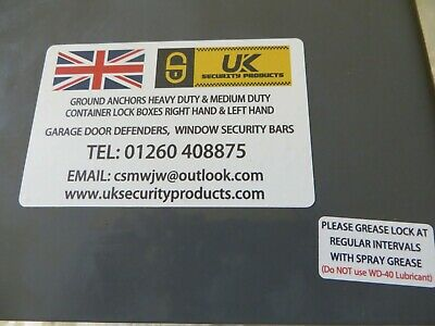 Shipping Container Bolt On Lock Box Right Hand Opening Door Security No Lock