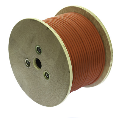 HDW8250RED 8 AWG CCA Power Wire Spool 250ft Clear