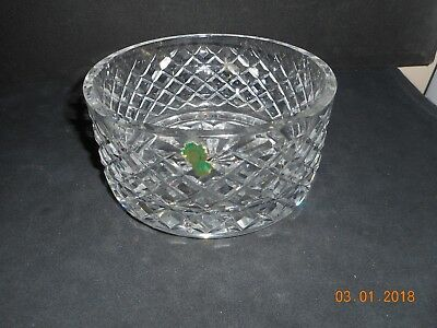 "Waterford ALANA 8"" Bowl Diamond Cut Crystal Vintage Mint Made In Ireland"