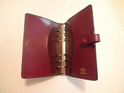 Filofax- Calf Leather Planner-Vintage-Made In England-Model C2Clf 7/8
