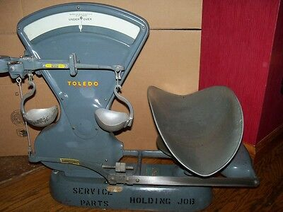 Vintage Toledo Store Counter Scale Model 3400 Works Great Free Shipping