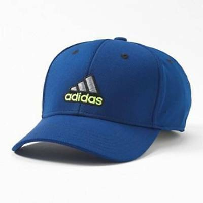 Adidas Closer Stretch Sporty Baseball Fitted Hat Cap Color: Blue